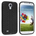 Insten® Silicone Skin Case For Samsung Galaxy SIV/S4 i9500, Black Tyre