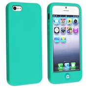 Insten® Silicone Case With Home Button For Apple iPhone 5, Green