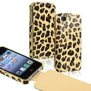 Insten® Leather Case For Apple iPhone 4/4S, Brown Leopard