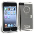 Insten® Plastic Snap-in Crystal Case With Belt Clip and Lanyard For iPod Touch 1st Gen, Clear