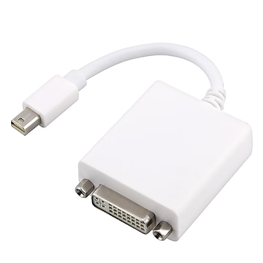 Insten TOTHMDPDVIMF Mini DisplayPort to DVI Video Adapter, White