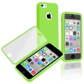 Insten® TPU Rubber Book Case For Apple iPhone 5C, Green/Clear