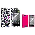 Insten® 399500 2 Piece Cellphone Case Bundle For Motorola Droid X MB810