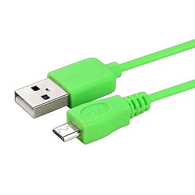 Insten® 6' Micro USB A/B 2-in-1 Cable, Green