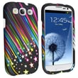 Insten® Rubber Coated Snap-in Case For Samsung Galaxy S III, Rainbow Star