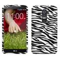 MYBAT™ Rigid Plastic Phone Protector Case For LG D801 (Optimus G2), Zebra Skin