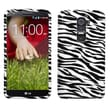 MYBAT™ Rigid Plastic Phone Protector Case For LG D801 (Optimus G2), Zebra Skin