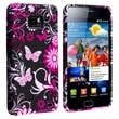 Insten® TPU Rubber Skin Case For Samsung Galaxy S II/S2 i9100, Black Flower With Butterfly