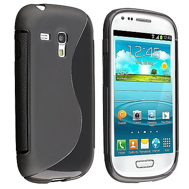 Insten® TPU Rubber Case For Samsung Galaxy S III Mini I8190, Black S Shape