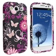 Insten® Rubber Coated Snap-in Case For Samsung Galaxy S III/S3, Pink Butterfly