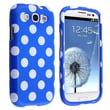 Insten® Plastic Snap-in Case For Samsung Galaxy S III i9300, Light Blue/White Polka Dots