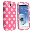 Insten® Plastic Snap-in Case For Samsung Galaxy S III i9300, Light Pink/White Polka Dots