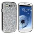 Insten® Plastic Snap-in Case For Samsung Galaxy S III/S3 i9300, Silver Glitter