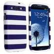 Insten® Plastic Snap-in Case For Samsung Galaxy S III/S3, Blue Stripe