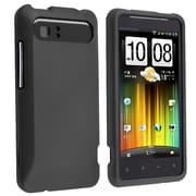 Insten® Rubber Coated Snap-in Case For HTC Holiday, Black