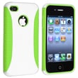 Insten® TPU Rubber Hybrid Case For Apple iPhone 4/4S, Light Green/White