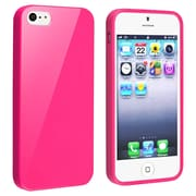 Insten® TPU Rubber Skin Case For Apple iPhone 5/5S, Hot Pink Jelly