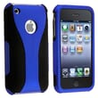Insten® Rubber Coated Snap-in Case For Apple iPhone 3G/3GS, Dark Blue/Black Cup Shape