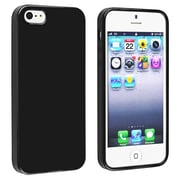 Insten® TPU Rubber Skin Case For Apple iPhone 5/5S, Black Jelly
