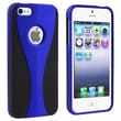 Insten® Hard Plastic Snap-in Case For Apple iPhone 5/5S, Dark Blue/Black Cup Shape
