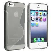 Insten® TPU Rubber Skin Case For Apple iPhone 5/5S, Clear Smoke S Shape