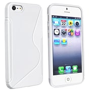 Insten® TPU Rubber Skin Case For Apple iPhone 5/5S, White S Shape
