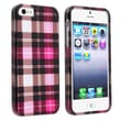 Insten® Hard Plastic Snap-in Case For Apple iPhone 5/5S, Hot Pink Checkers