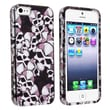 Insten® Hard Plastic Snap-in Case For Apple iPhone 5/5S, Black Skull