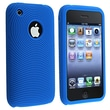 Insten® Silicone Textured Skin Case For Apple iPhone 3G/3GS, Blue
