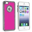 Insten® Hard Plastic Snap-in Case For Apple iPhone 5/5S, Bling Luxury Hot Pink