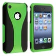 Insten® Rubber Coated Snap-in Case For Apple iPhone 3G/3GS, Green/Black Cup Shape