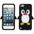 ASMYNA Silicone Skin Gel Cover Case For iPod Touch 5th Gen, Black Yellow Leg Penguin