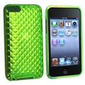 Insten® TPU Rubber Skin Case For iPod Touch 2nd/3rd Gen, Clear Green Diamond