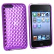 Insten® TPU Rubber Skin Case For iPod Touch 2nd/3rd Gen, Clear Purple Diamond