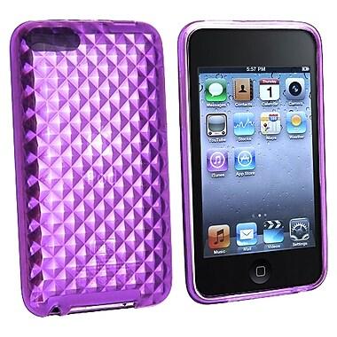 Insten® TPU Rubber Skin Case For iPod Touch 2nd/3rd Gen, Clear Purple Diamond