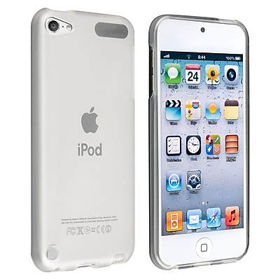 Insten DAPPTOU5SC08 TPU Rubber iPod Case for Apple iPod Touch 5th Gen Frost Clear White