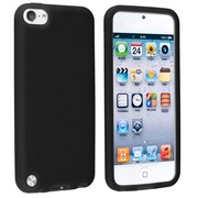 Insten® Silicone Skin Case For iPod Touch 5th Gen, Black