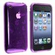 Insten® TPU Rubber Skin Case For Apple iPhone 3G/3GS, Purple Flower With Butterfly