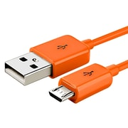 Insten® 6' Micro USB A/B 2-in-1 Cable, Orange