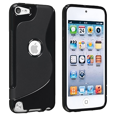 Insten® TPU Rubber Case For iPod Touch 5th Gen, Black S Shape