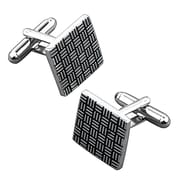 Insten® Nickel Plated Square Cufflinks