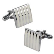 Insten® Rectangle Cufflink, White
