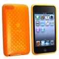 Insten® TPU Rubber Skin Case For iPod Touch 2nd/3rd Gen, Clear Orange Diamond