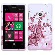 Insten® Rubberized Phone Protector Case For Nokia Lumia 521, Spring Flowers