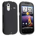 Insten® Rubber Coated Snap-in Case For HTC Amaze 4G, Black
