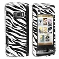 Insten® Clip-on Case For LG enV Touch VX11000, White/Black Zebra