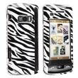 Insten® Clip-on Case For LG enV Touch VX11000, White/Black Zebra
