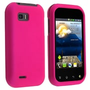 Insten® Hard Plastic With Rubber Coated Snap-in Case For LG MyTouch Q, Hot Pink