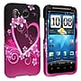 Insten® Rubber Coated Snap-in Case For HTC Inspire