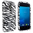 Insten® Hard Plastic Snap-in Case For Samsung Galaxy Nexus i515, Black/White Zebra